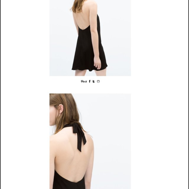 Zara backless dress black