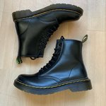 1088b7b48 NO BOUNDARIES patent leather combat boots. Hey 90s boots. ME - Depop