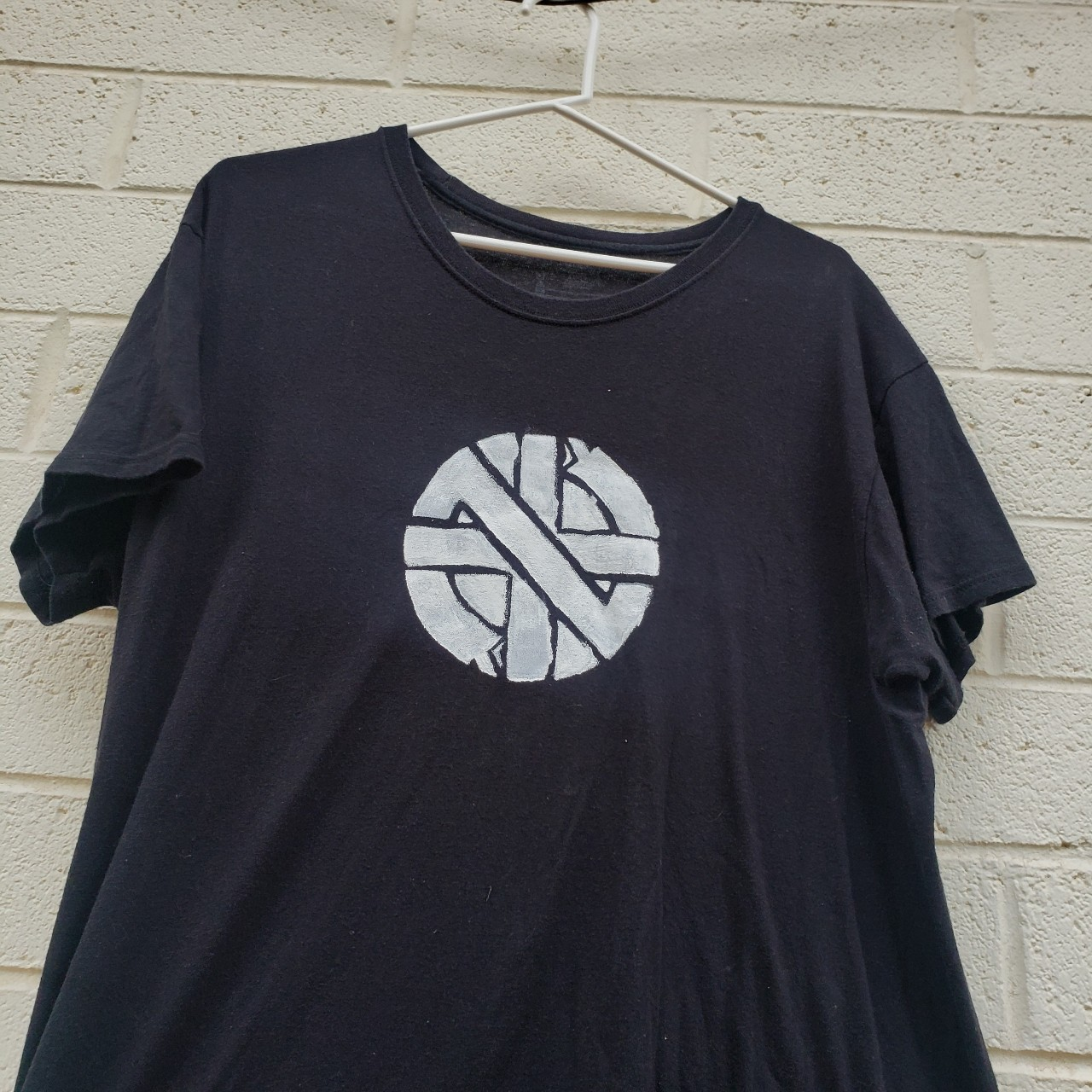 Product Image 1 - hand painted crass shirt!🧷🧷 selling for