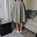 02bf064df3 corduroy midi skirt. from uniqlo size small (26-27) but fit - Depop
