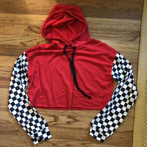 f7aa8f4b3 NASCAR perfect cropped hoodie! T-shirt like material so you - Depop