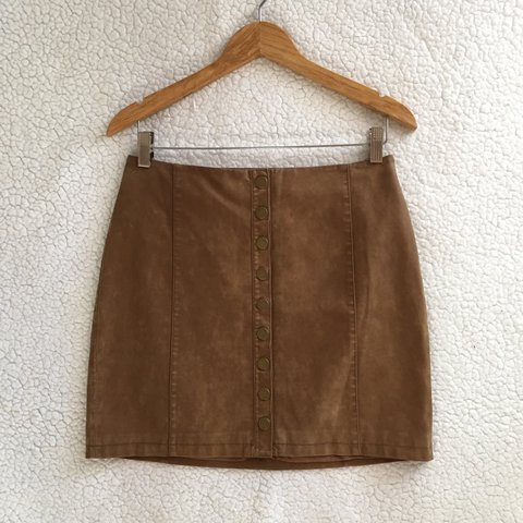 dbc30cc01 @theowolfgang. in 16 hours. Los Angeles, United States. Free People oh snap  faux vegan suede leather mini skirt ...