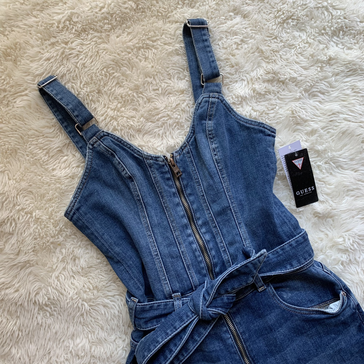 Product Image 1 - ON HOLD  guess denim jumpsuit. seriously