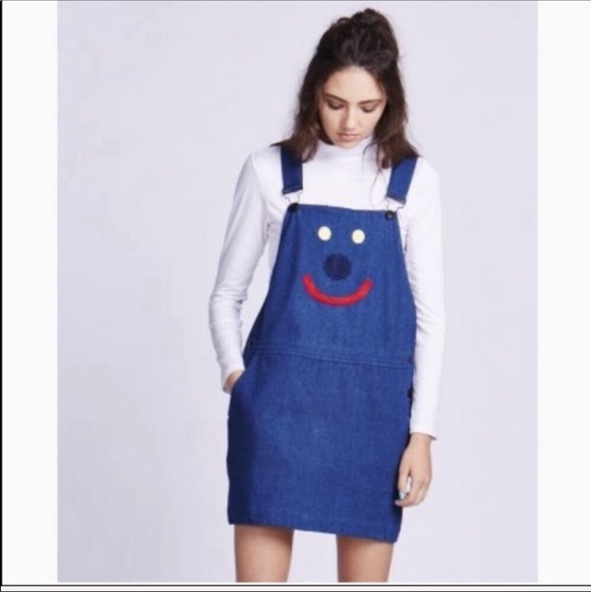 Product Image 1 - lazy oaf happy pinafore dress