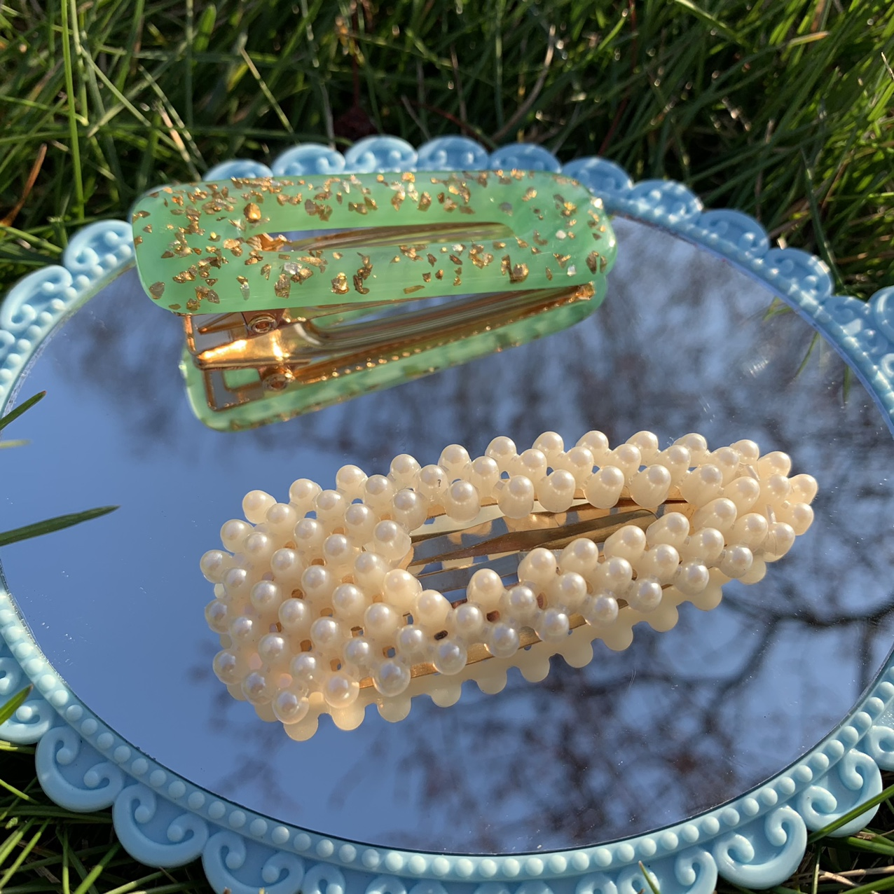 Product Image 1 - Green Resin Hair Barrette +
