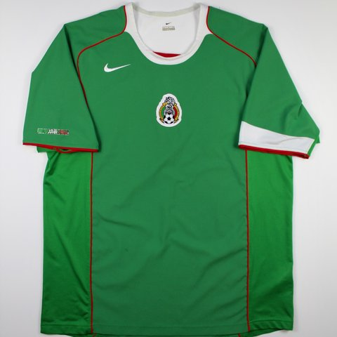 3cc758f230a Vintage Nike Mexico Soccer Jersey from when there were by no - Depop