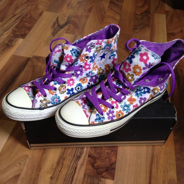 converse all star con fiori