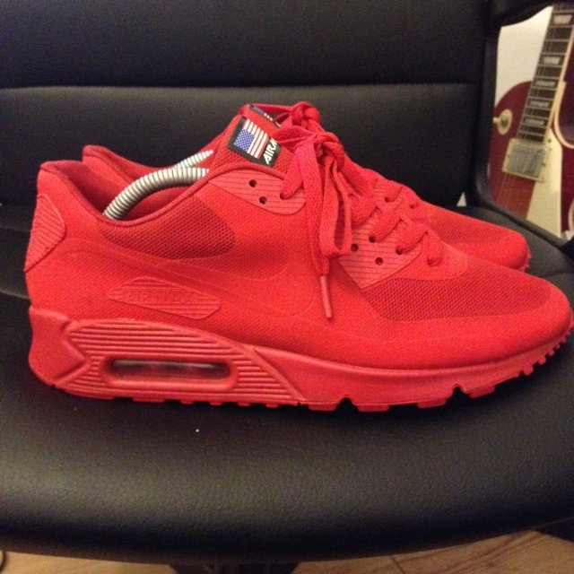 87aa4719e661 ... order red stylish outlet air max 90 kanye west b993b 5ca53 authentic nike  air max 90 hyperfuse qs ...