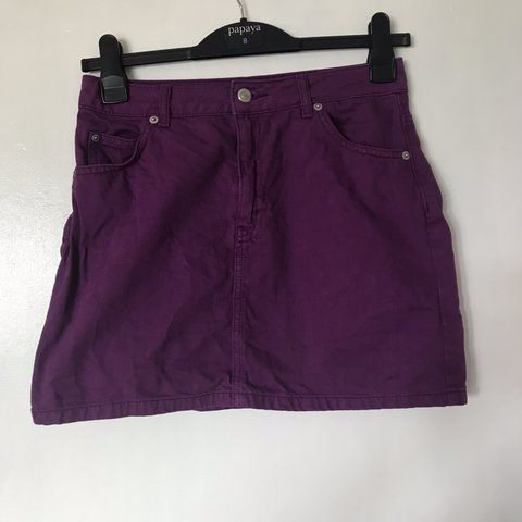 4a6658a31025bd @cheyannenoel. 14 days ago. London, United Kingdom. TOPSHOP purple denim  skirt. UK 10. Worn once