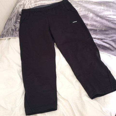 6a2c39cfaa1 @chrissyscloset123. 3 hours ago. Bolton, United Kingdom. Adidas black  cropped fitness gym pants