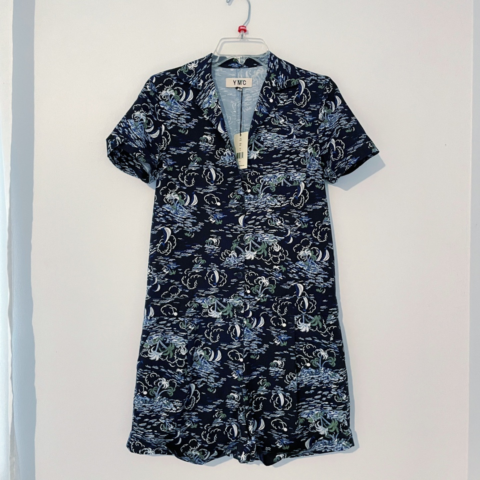 Product Image 1 - Tropical printed romper Button down with