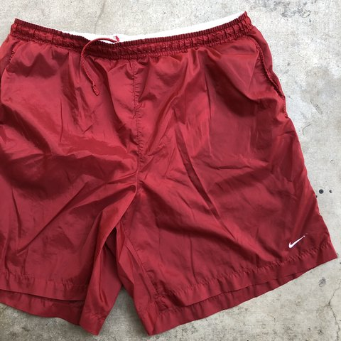 0cfe841163 @clotheshoes. in 6 hours. Corona, United States. Vintage Nike Logo Shorts/Swim  Trunks. Good used condition. Men's Size XL.