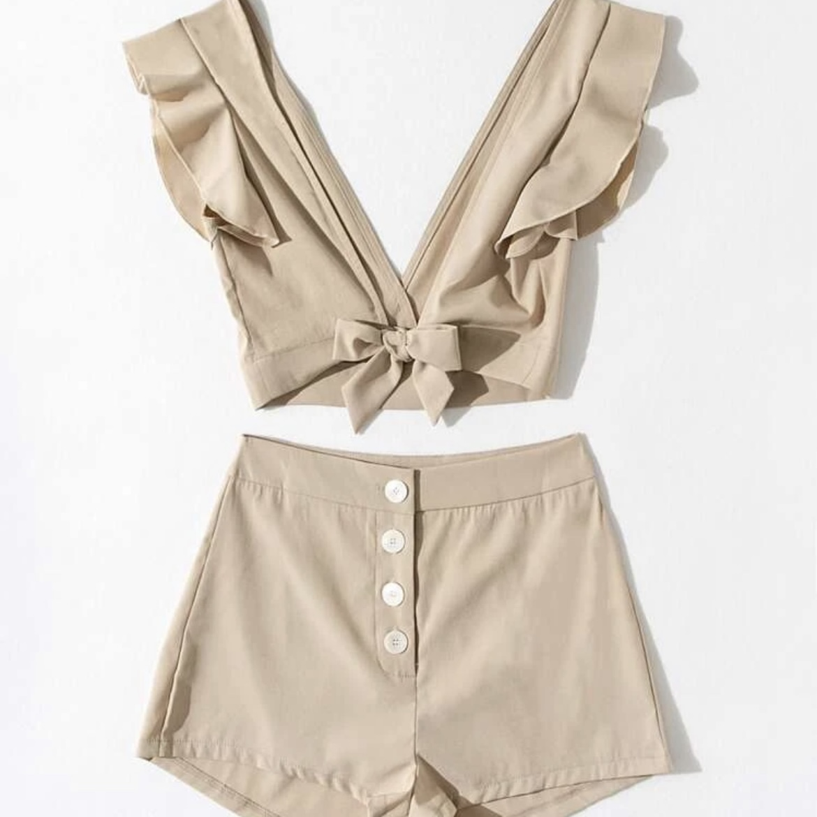 Product Image 1 - Ruffle Sleeve Tie Front and