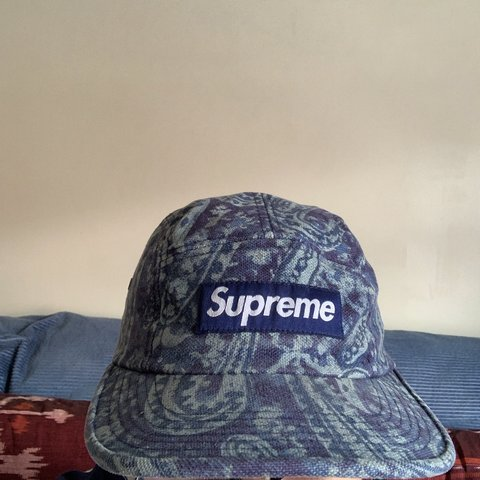 87f6c47b250169 Supreme Liberty Paisley cap in blue. One size fits most, say - Depop