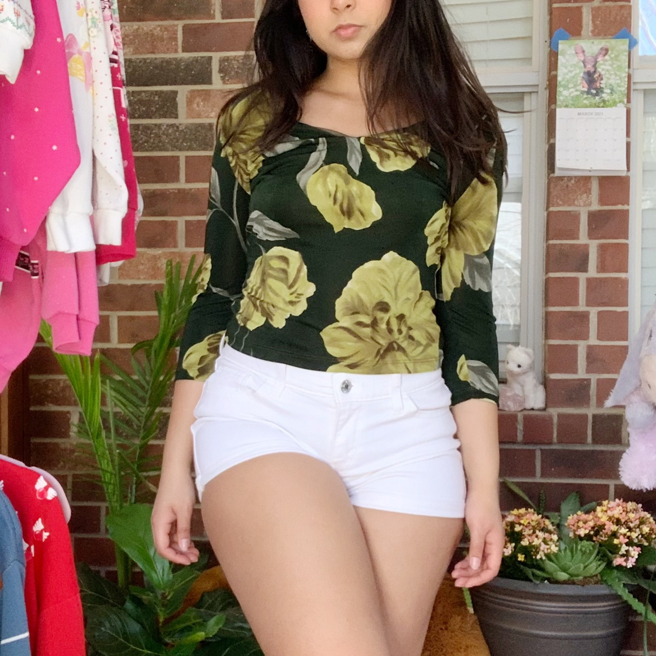 Product Image 1 - Green Floral Top by Charlotte