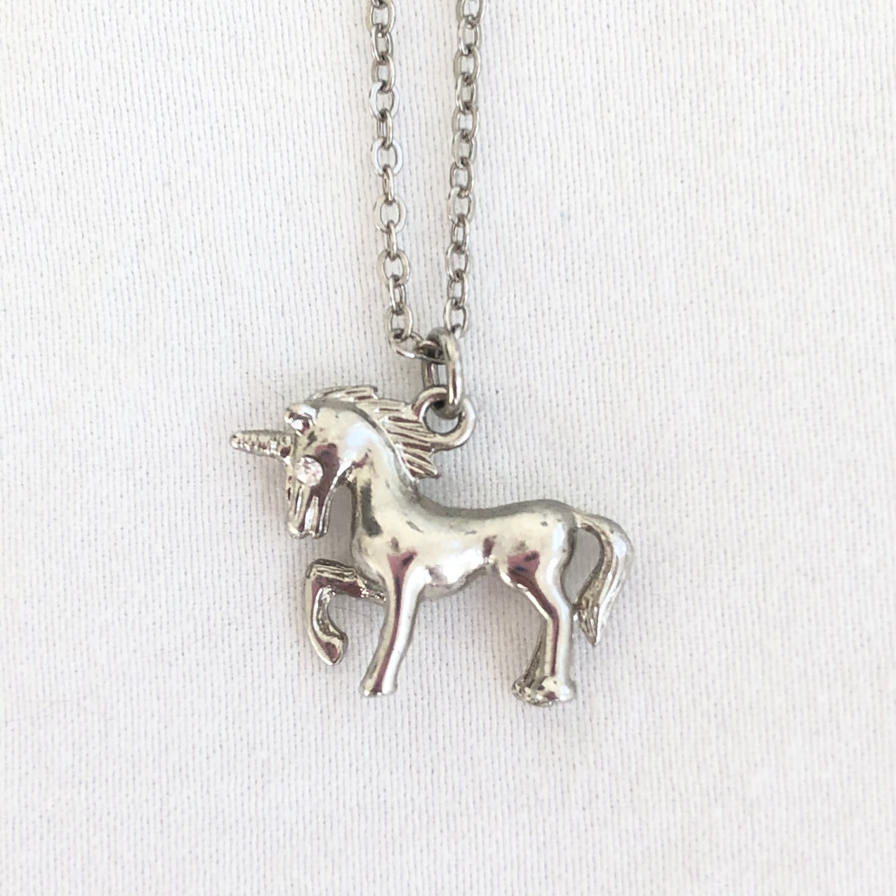 Product Image 1 - 🌫 Silver Unicorn necklace with