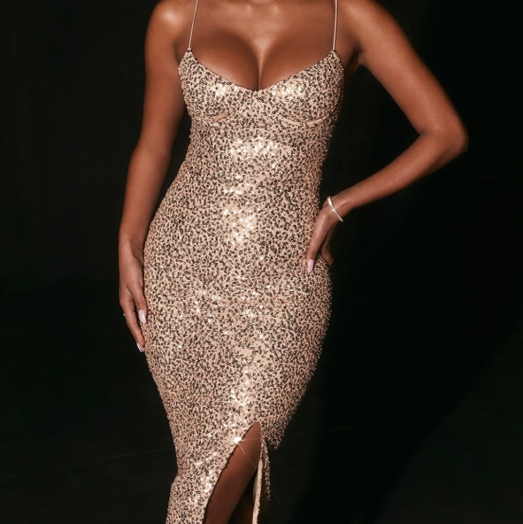 Product Image 1 - Oh polly Embellished Gold midi