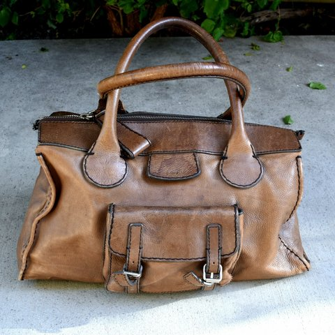 d9237147af8 @cheapthrllz. 21 days ago. Los Angeles, Los Angeles County, United States. Chloe  30s style leather weekender bag. Gorgeous well worn ...