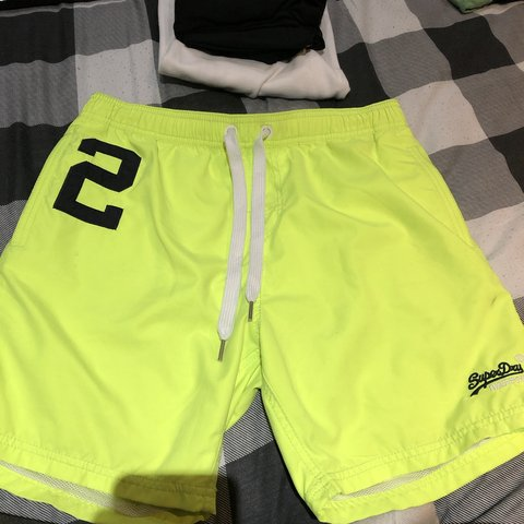 a41e961ddd @ellie_tiffin. last month. Berwick-upon-Tweed, United Kingdom. Men's super  dry fluorescent yellow swim shorts. Been worn ...