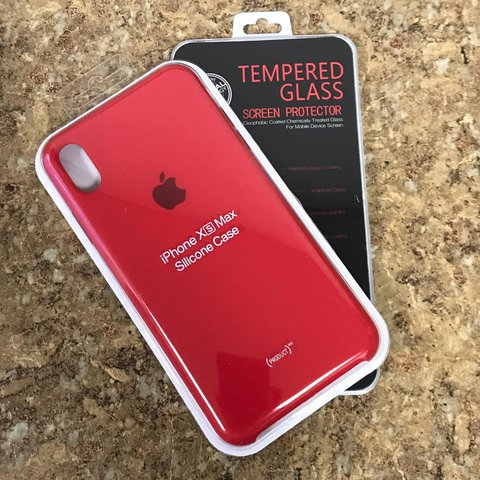 iphone xs red silicone case