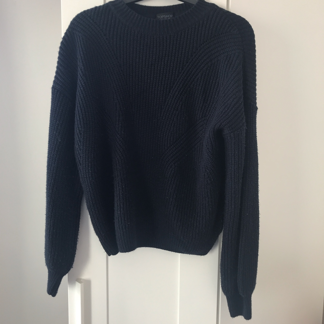 Product Image 1 - TOPSHOP navy blue chunky knitted