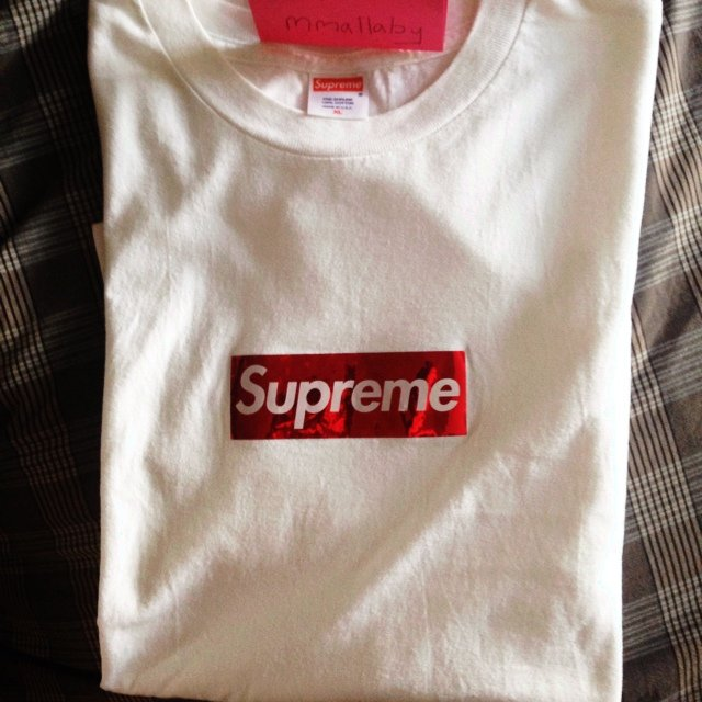 fcb8f8769c4  PC  Supreme Red Holographic Box Logo ...