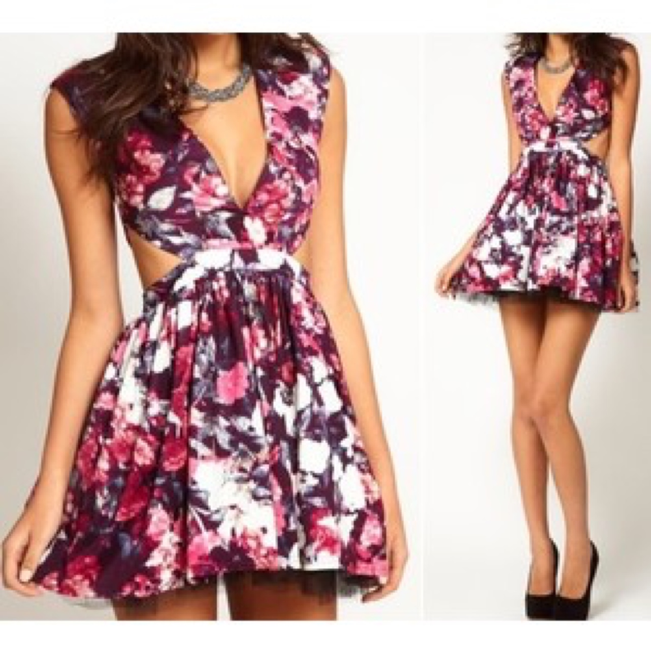 Oh my love topshop floral cut Georgia Tomlinson