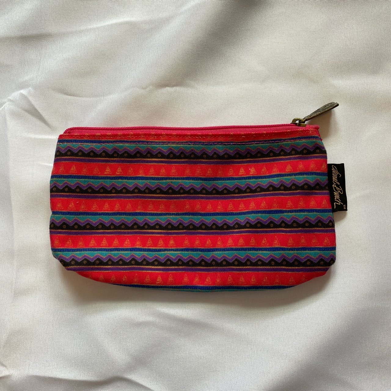 Product Image 1 - *Laurel Burch striped zippered pouch.