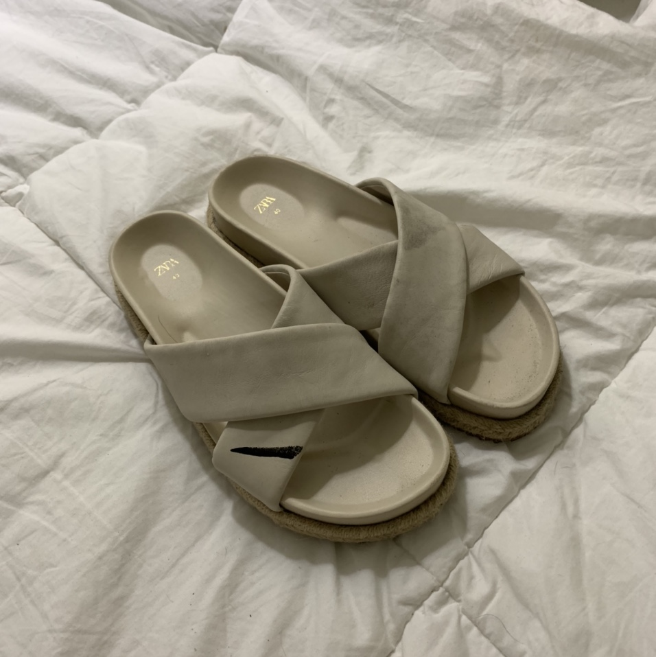 Product Image 1 - ZARA Sandal  Cream color with wicker