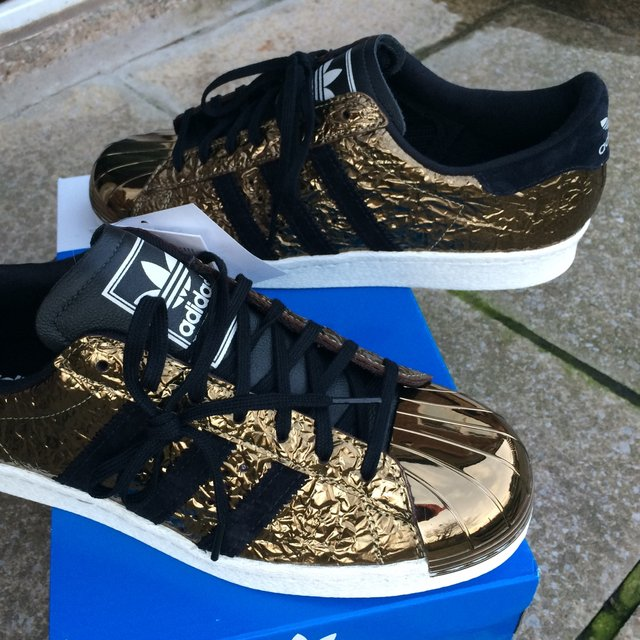 adidas metal toe gold
