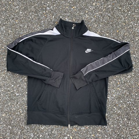 6e915b4a9 @acedu135. in 4 hours. Laurel, United States. Nike Sportswear Black White  and Grey Zip Up Track Jacket.