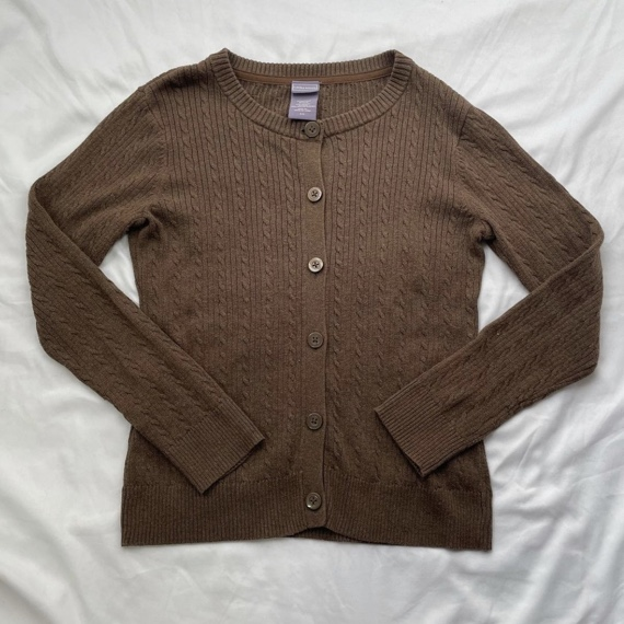 Product Image 1 - brown knit cardigan   size small