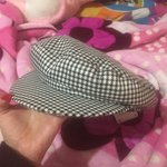 d728ab9c Zara baker boy hat with plaid print in a size Medium. Only - Depop
