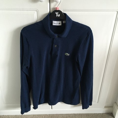 7a6cdb824 Lacoste navy classic fit long sleeve polo shirt. Size XS