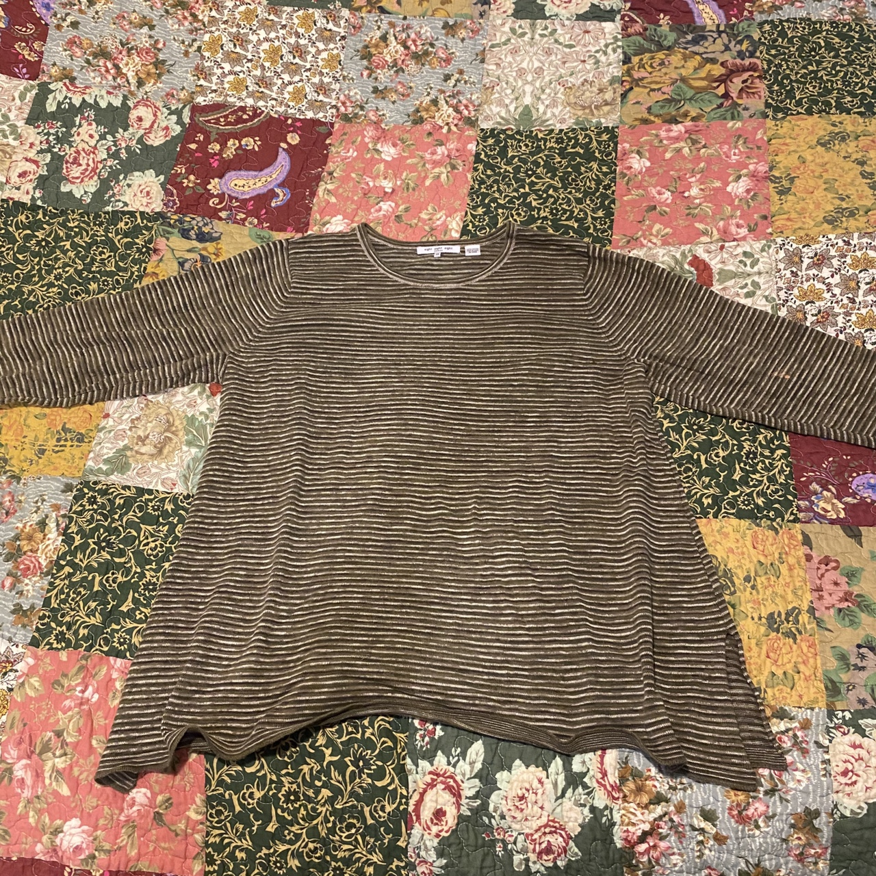 Product Image 1 - Oversized knitted stripe sweater top Not