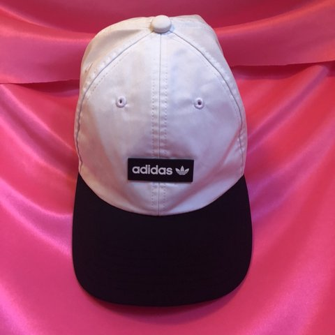 ec019113 White adidas baseball cap - one size, adjustable in the with - Depop