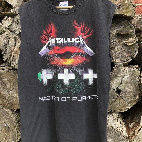 94e62306 Metallica cut off tee in good solid condition new summer for - Depop