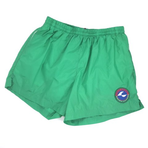 33f75acdcc @internet_tears. 7 days ago. Rochester, United States. Vintage 90s Ralph  Lauren Polo Sport swim trunks. Green size men's L