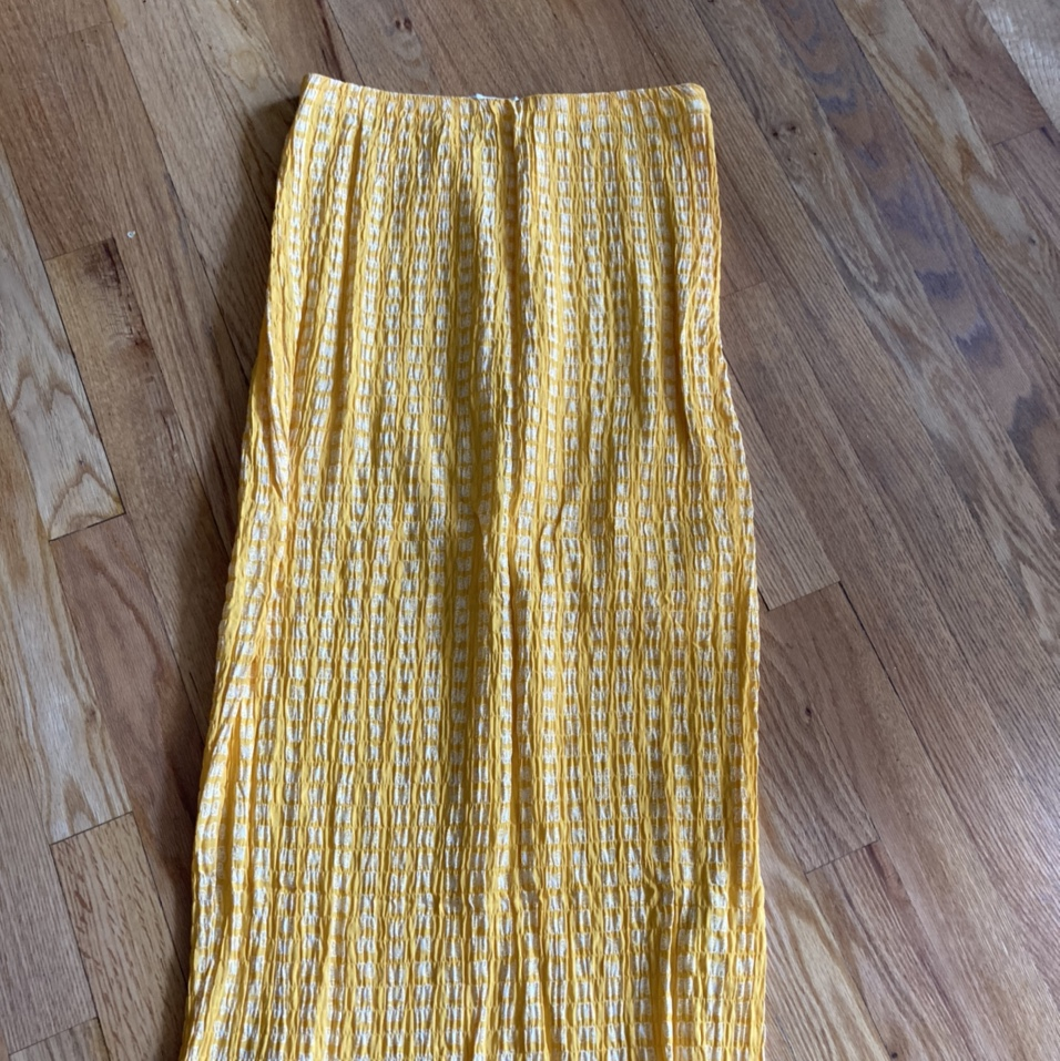 Product Image 1 - Urban Outfitters yellow midi skirt