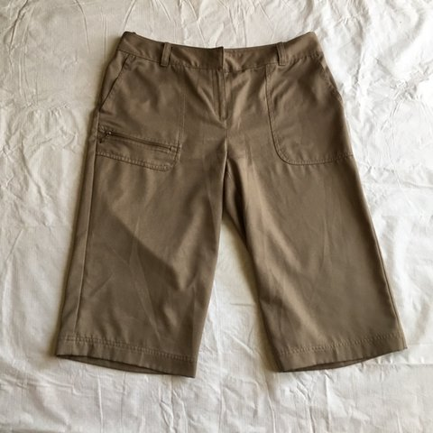 2cb30d7c96 @socalsecondhand. 23 days ago. Cathedral City, United States. Izod XFG  Ladies size 10 stretch tan athletic golf ...