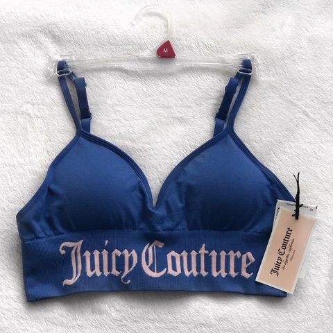 f99ab4f8bf3b JUICY COUTURE bra in light pink and blue 🍑 Size medium will - Depop