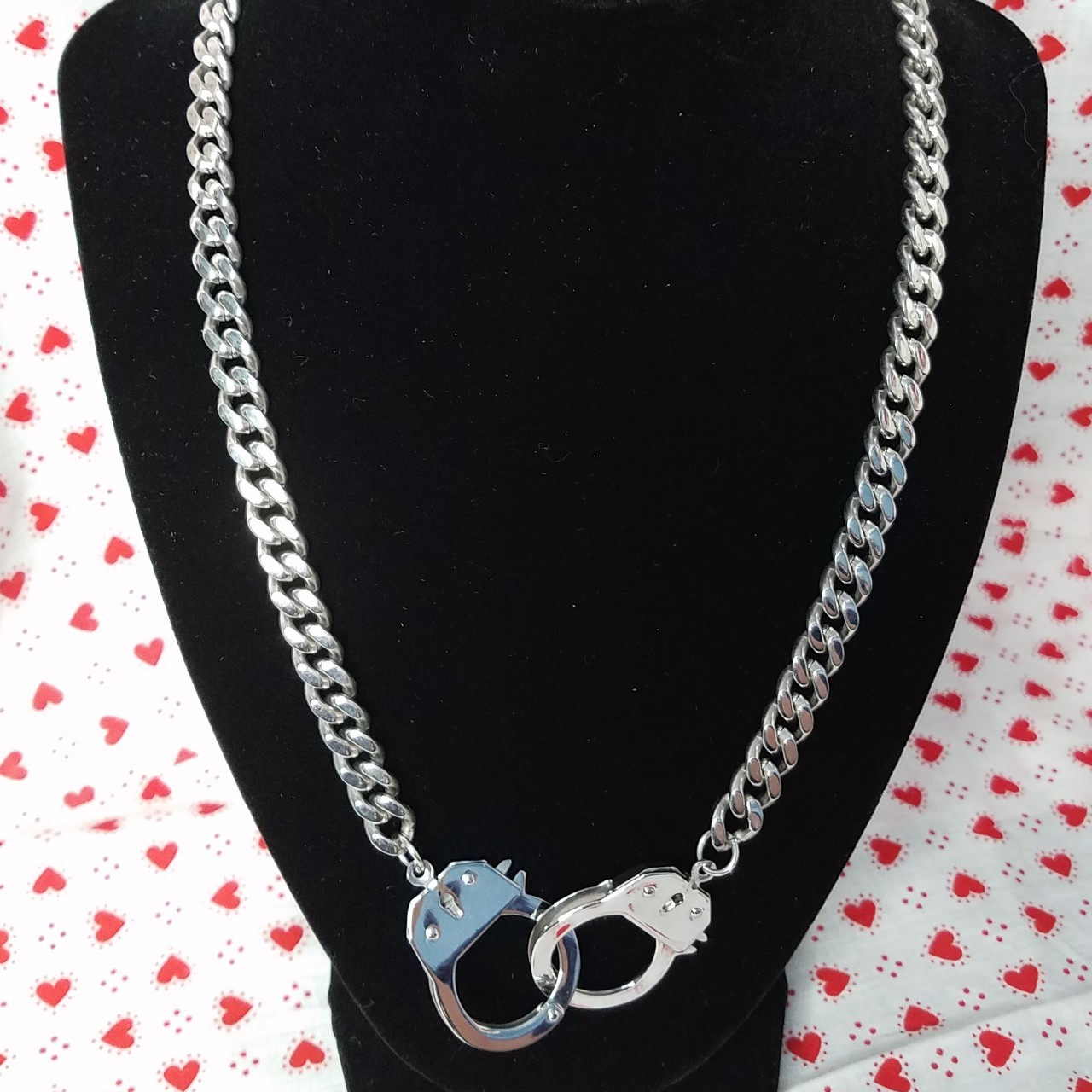 Product Image 1 - Stainless Steel Handcuff Necklace  This rad