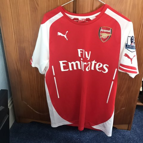 d04fdddec @joshhowells. 29 days ago. Llanelli, United Kingdom. Alexis Sanchez Red Arsenal  Home Shirt 2014-15. Size small ...