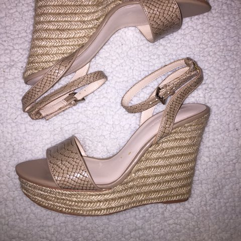 019ed1f8eb Zara wedges, size 6/39. Perfect for summer ☀️Received as a a - Depop