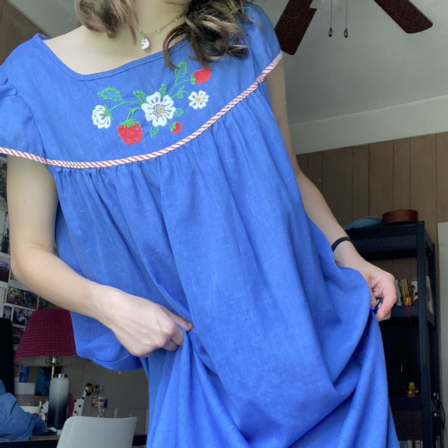 Product Image 1 - VINTAGE 70s PASTEL BLUE AND