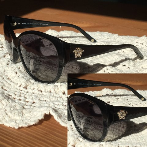 82779ede4945 @ughmeeree. yesterday. Philadelphia, United States. Authentic Versace  Sunglasses with Polarized lenses