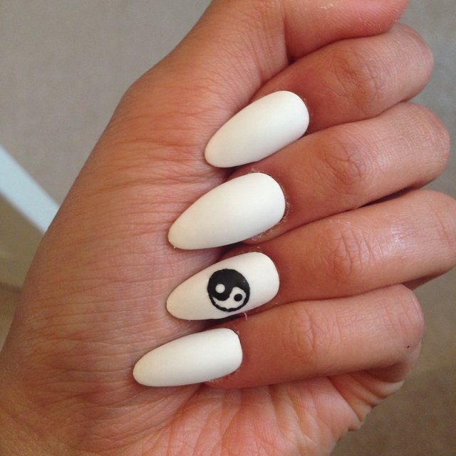 Matte Almond Shaped Nails Almond Shaped Nails With a