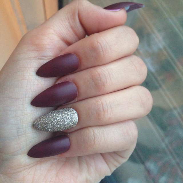 Pointy Acrylic Nails Burgundy - Best Image Nail 2017