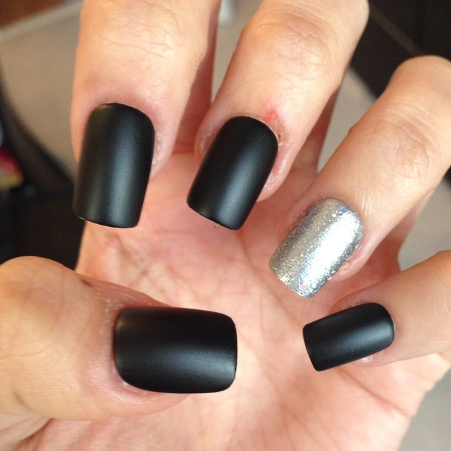 Black Squoval Nails Www Imgkid Com The Image Kid Has It