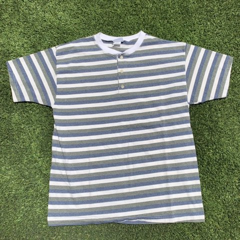 c4b111e7 @thrift_comply. 3 days ago. Tempe, United States. Stripe shirt. Vintage 90s striped  Henley t ...